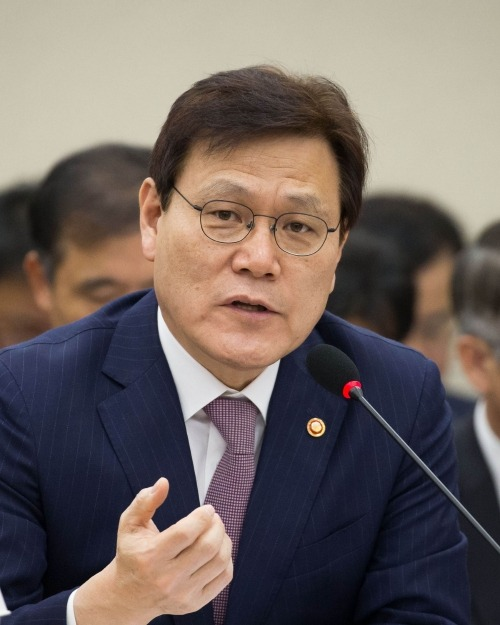 Choi Jong-gu, the Chairman of Financial Services Commission