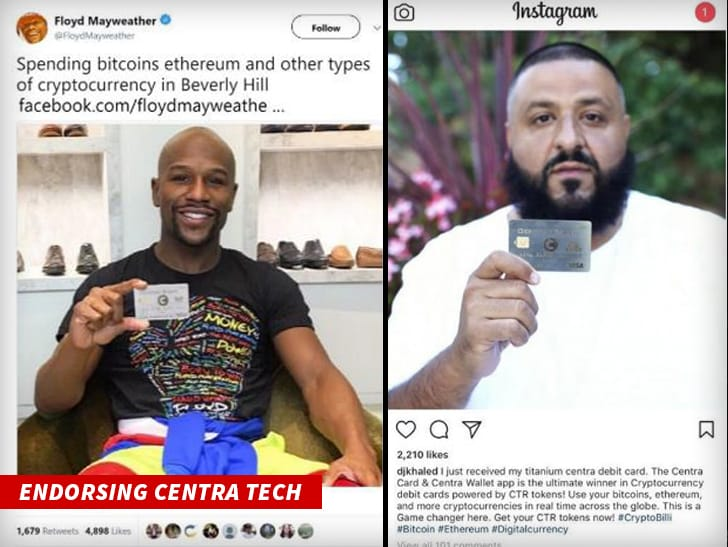Mayweather and DJ Khaled are shilling Centratech