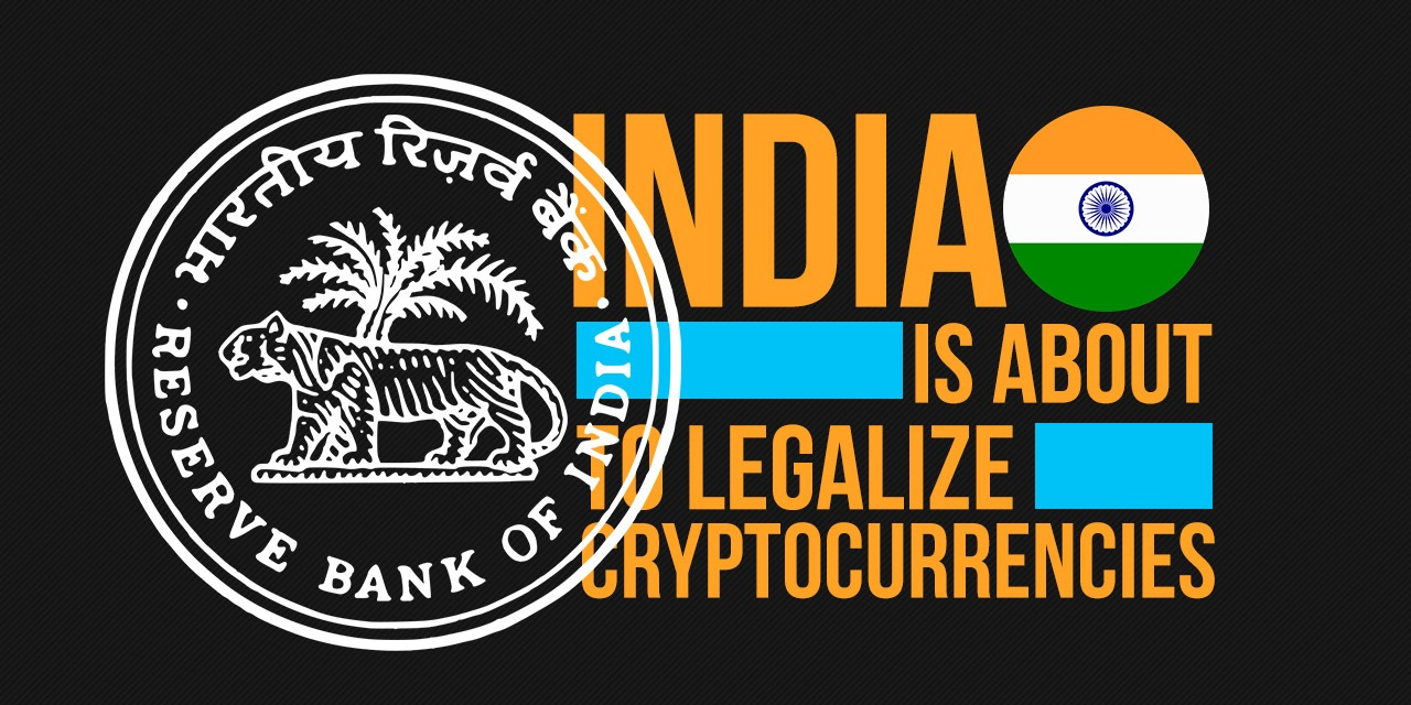 india is about to legalize cryptocurrency