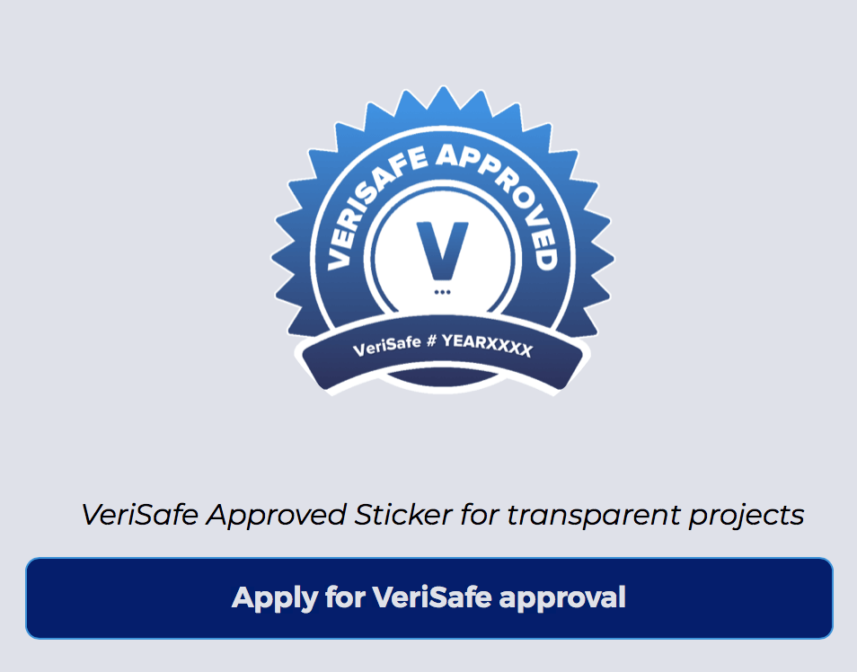 Apply for Verisafe approval