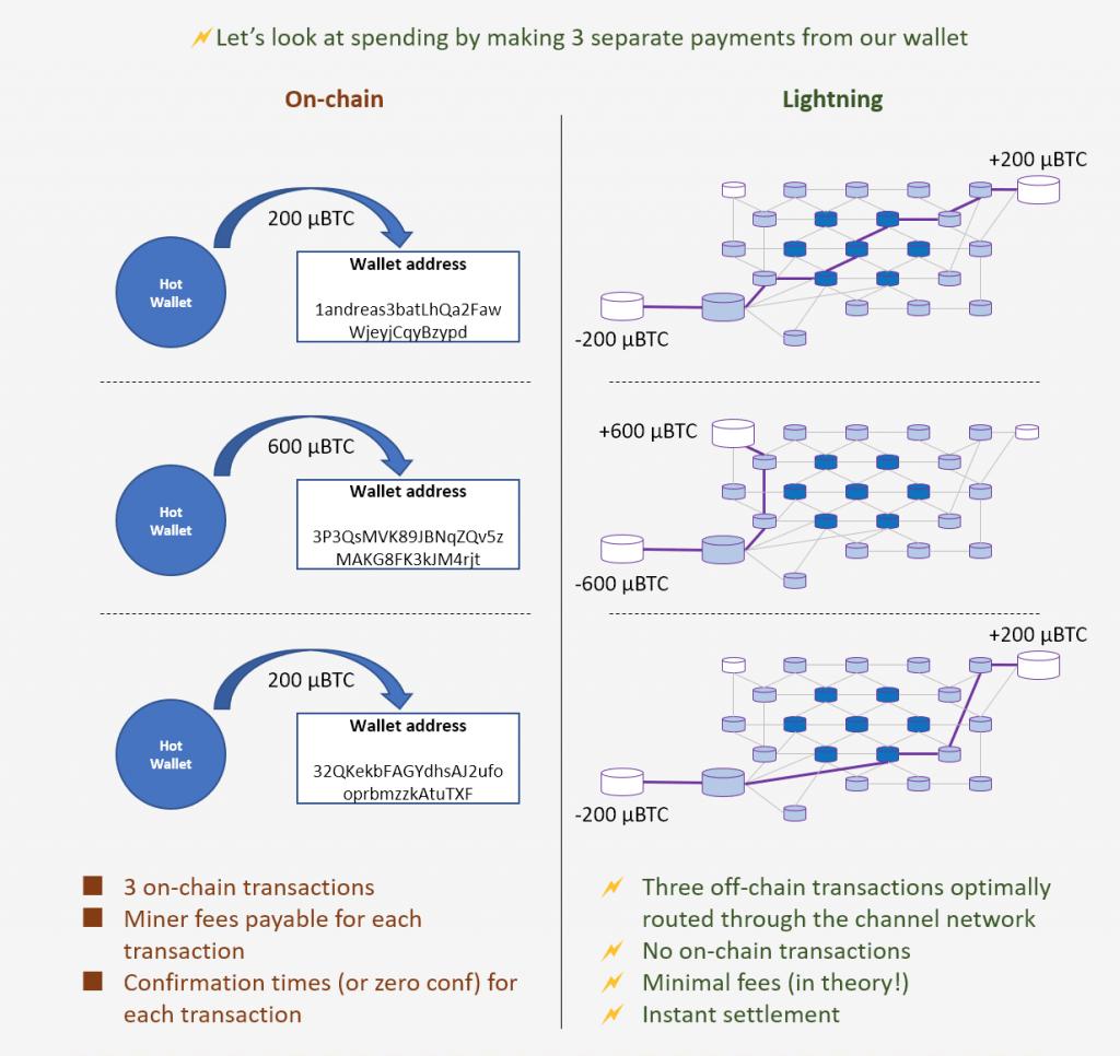 Lightning Network transaction example