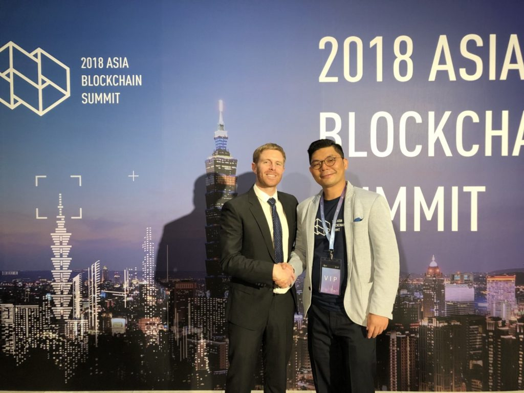 Ryan Terribilini, co-founder and CEO of Formosa Financial with Jason Hsu, Taiwan's «Crypto Congressman»