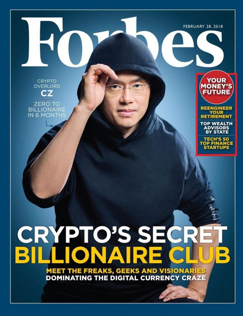 Changpeng Zhao on Forbes cover