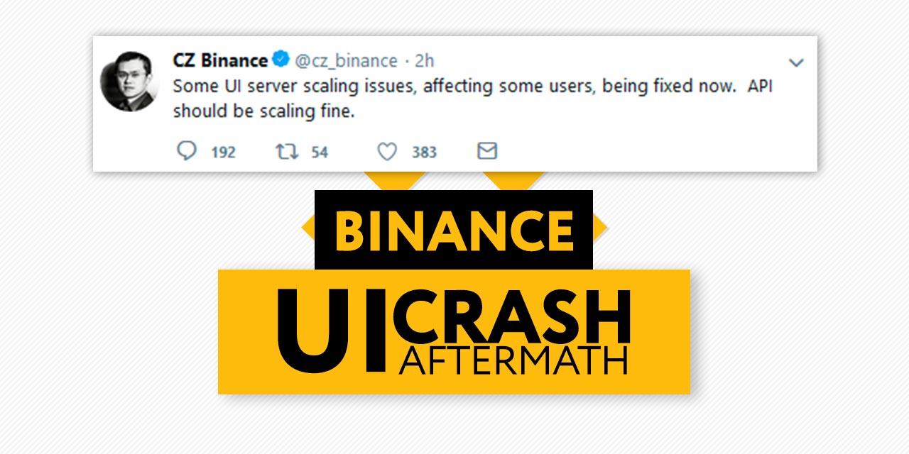 Binance UI Crash