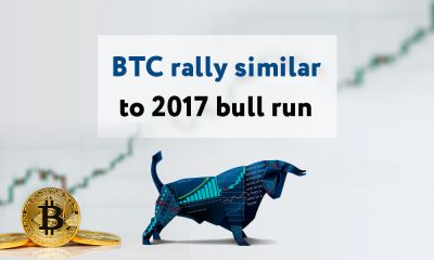 JP Morgan strategists have noted that the recent Bitcoin rally coincides with the 2017 rally which saw Bitcoin reach an all-time high of $20,000.