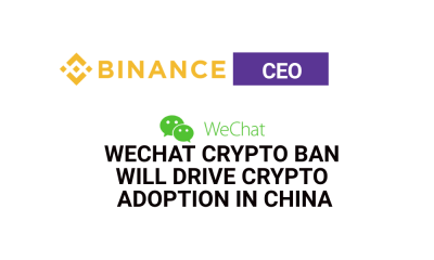 Binance CEO: WeChat crypto ban will drive crypto adoption in China
