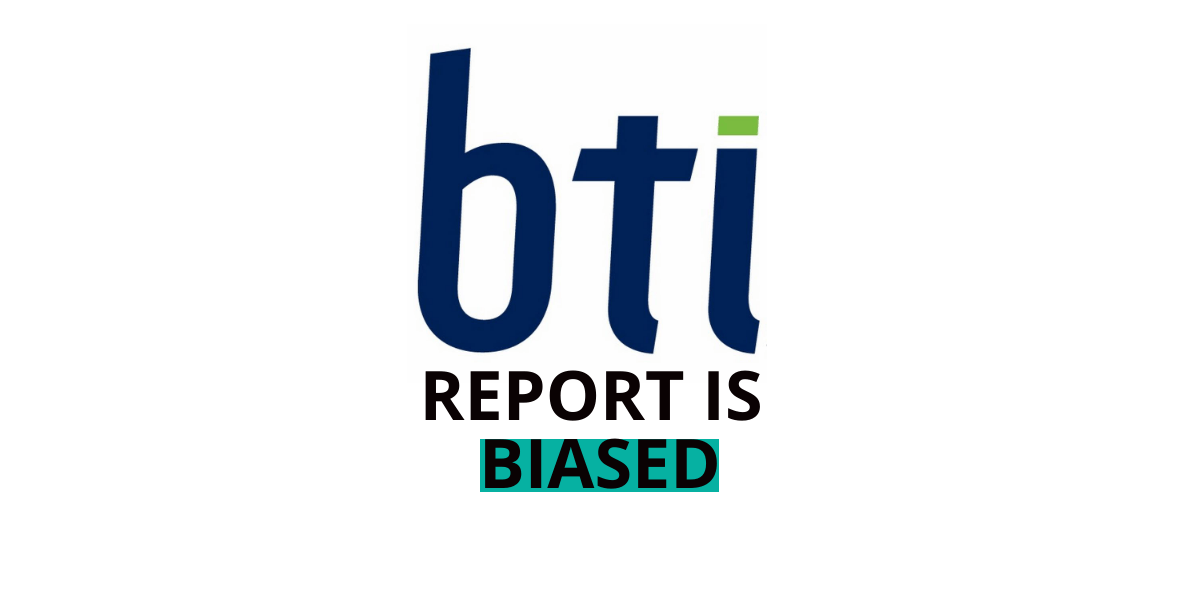 BTI Report is biased