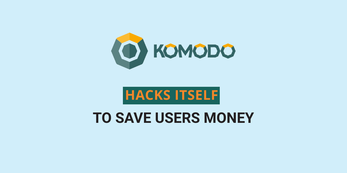 Komodo hacks itself to save users funds totaling $13 million