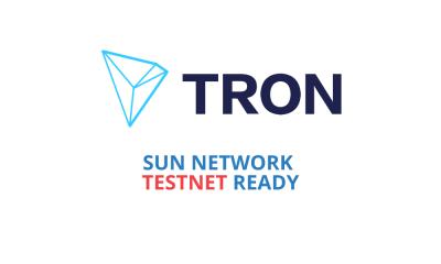 Tron's Sun Network TestNet Ready