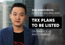 TRX Binance US Coinbase
