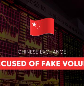 Chinese exchange fake volume