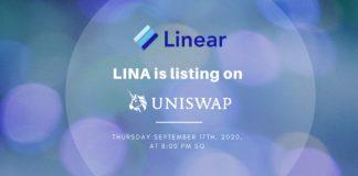 LINA listed on Uniswap