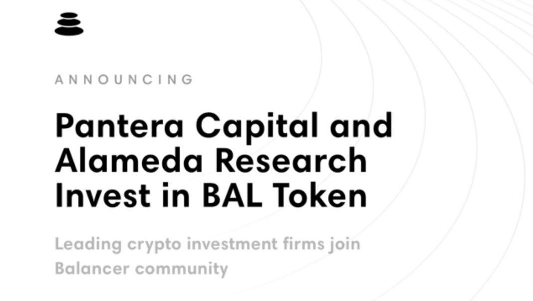 Alameda Research and Pantera Capital Funds Balancer